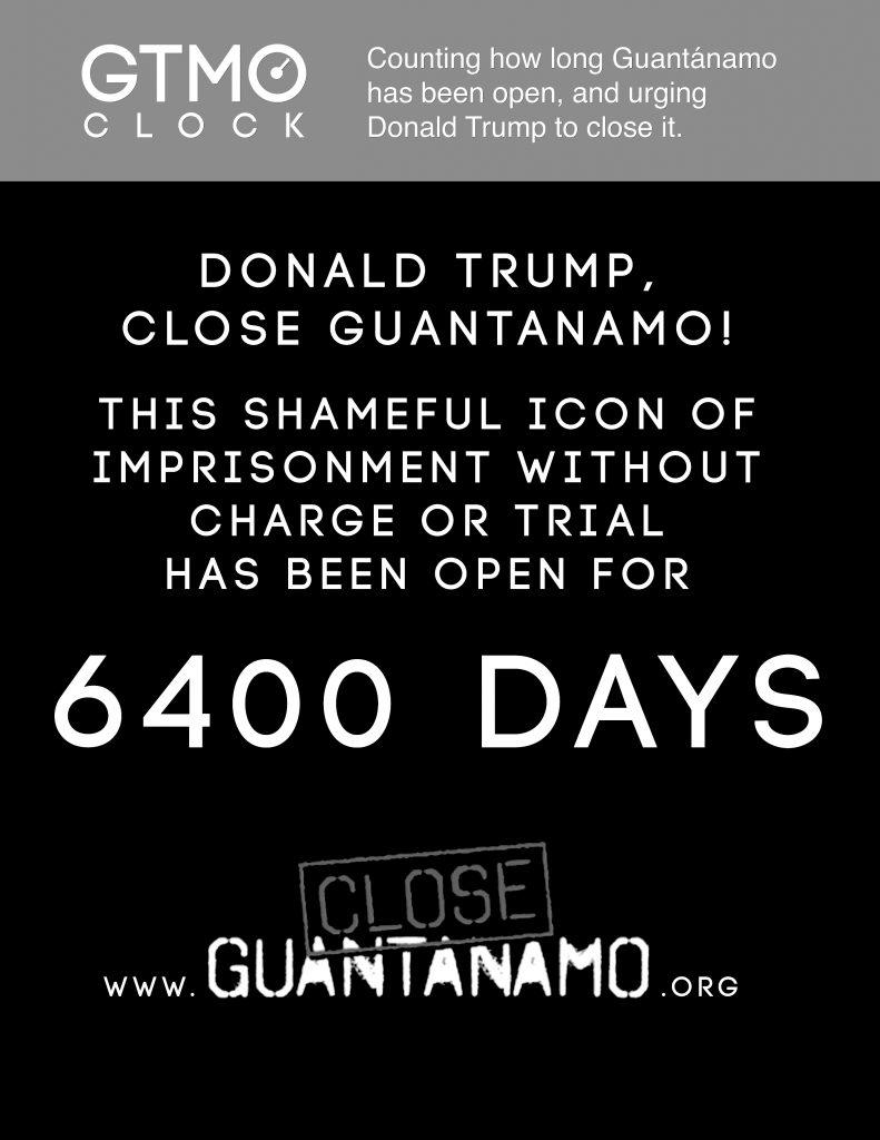 GTMO CLOCK: #closeguantanamo.org